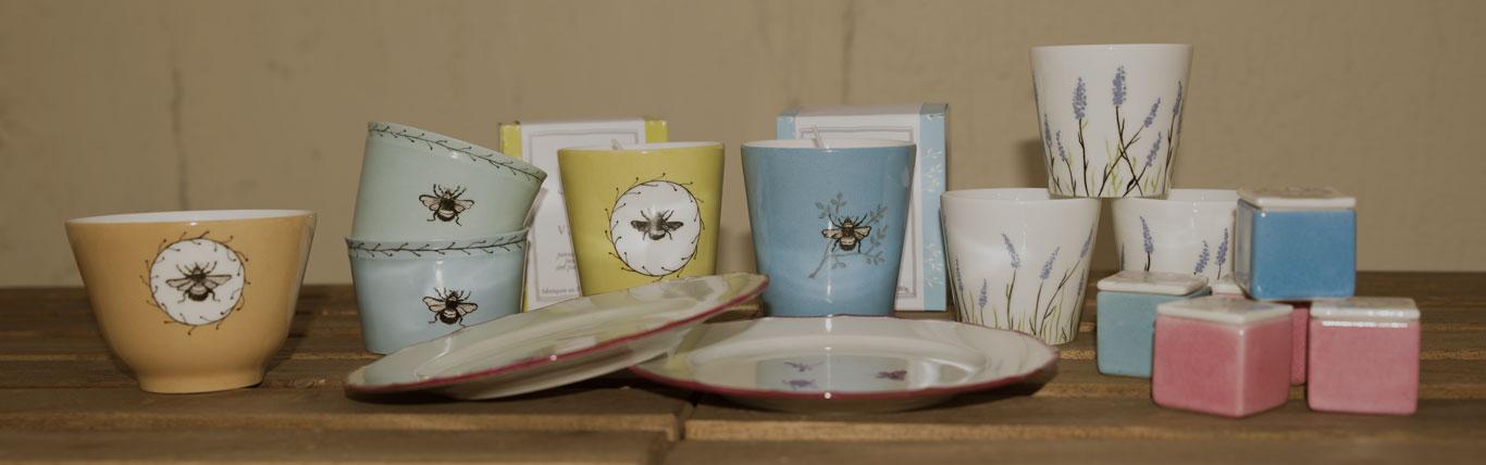 Vaisselle et Bougies parfumées de l'Atelier de la Porcelaine