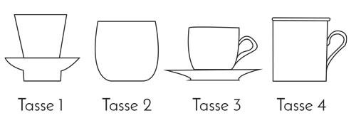 Modèles de tasses du Bar à Tasses