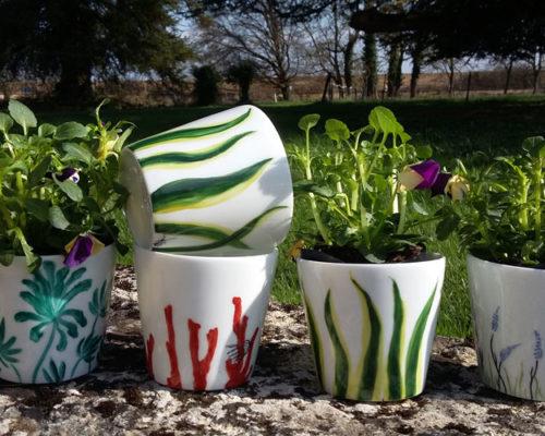 L'Atelier de la Porcelaine, cache-pots Edenmania